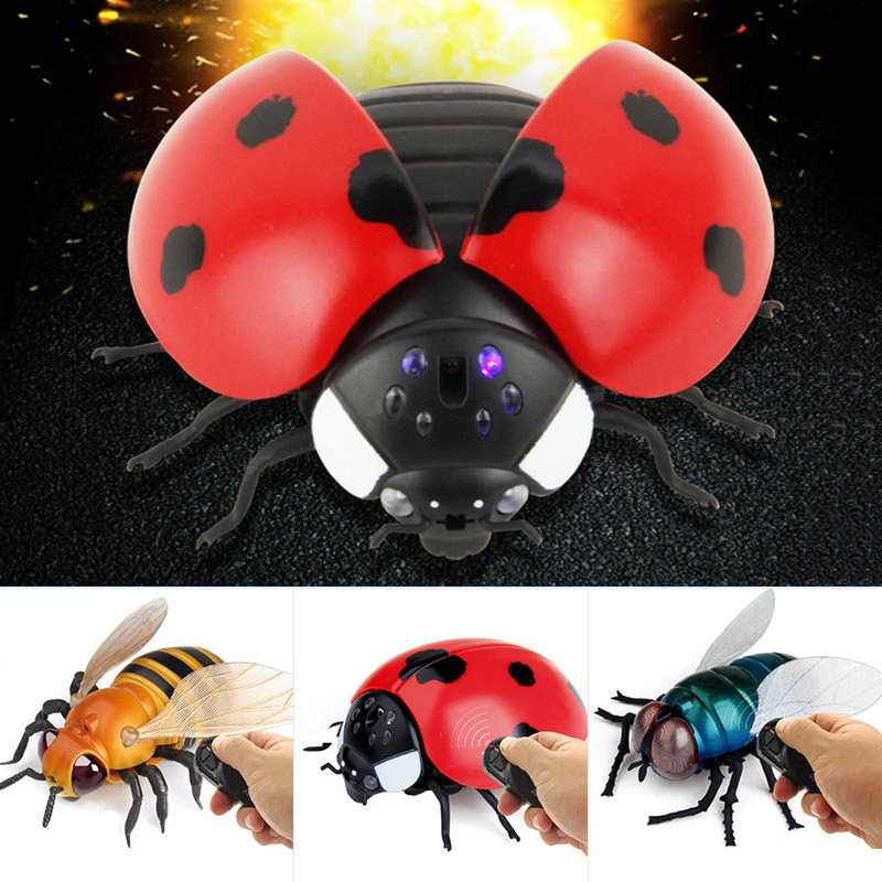 Haustierbedarf Remote Control Simulate Ladybug Electronic Toy DIY Children Gift Novelty Toy bm