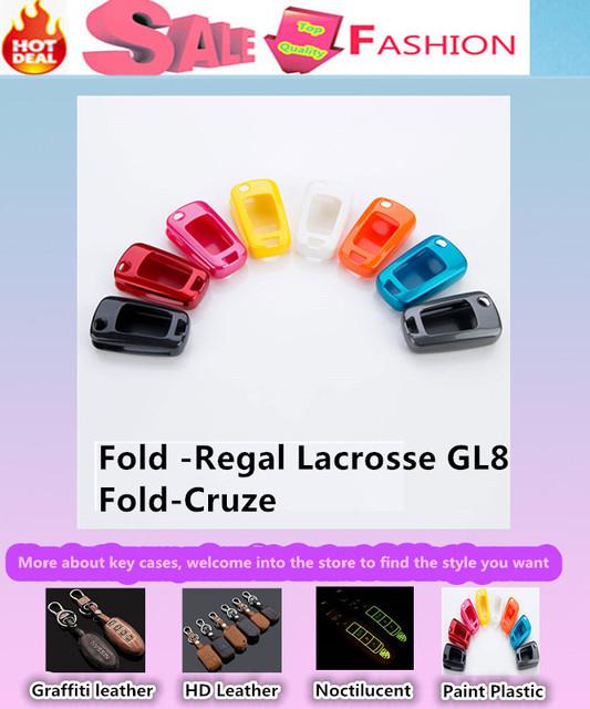 De Calidad superior cubierta de diseño de coches Pintura ABS keys bolsa casos Billetera cadena inteligente/fold para el Nuevo Regal y Nuevo Lacrosse GL8 y 2011 Cruze