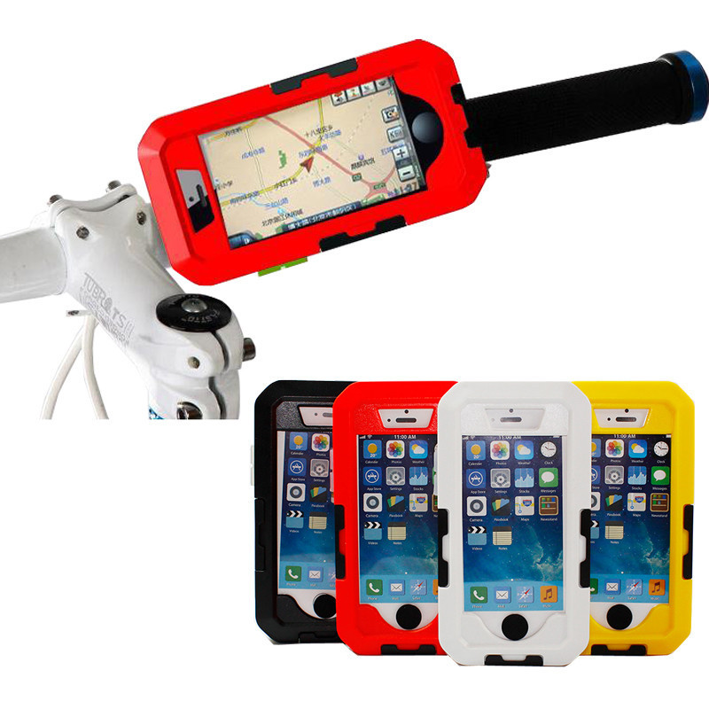 Waterproof Shockproof Cover Bicycle Case Handlebar Pouch Mount Holder Cases for <font><b>iPhone</b></font> 7 plus 6 6s 5s 5c SE bike phone holder