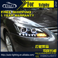 AKD Car Styling Headlight Assembly For Nissan Sylphy Headlights Bi Xenon LED Headlight Sentra DRL HID