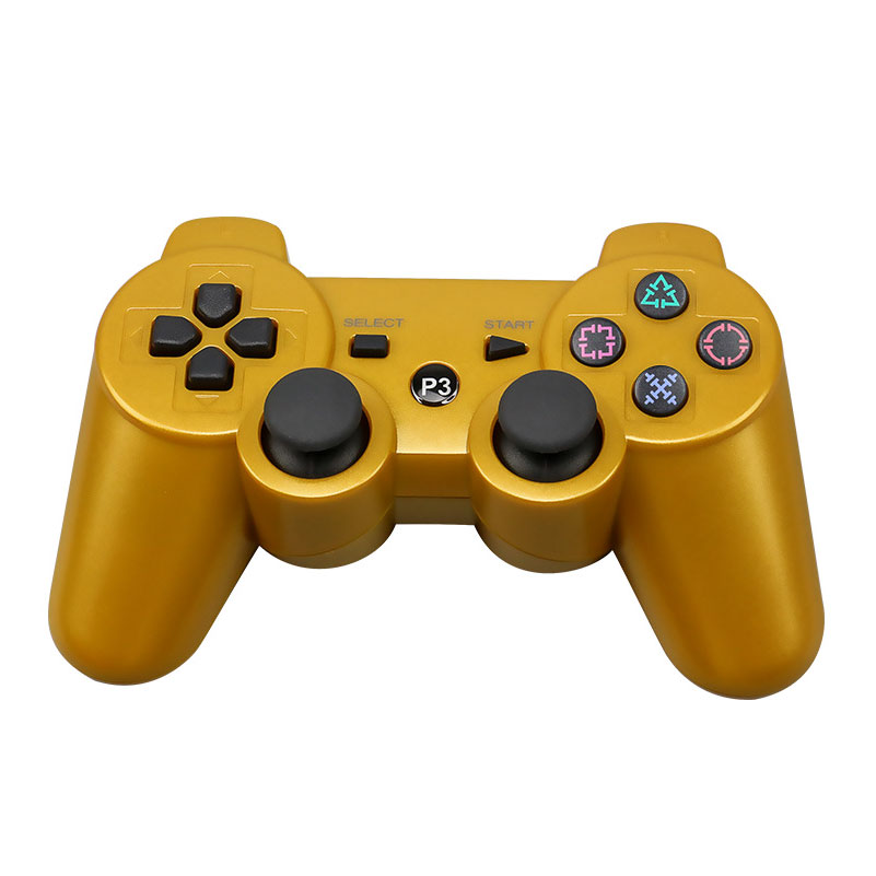 For Sony Playstation3 szKosTon 11 Colors 2.4GHz Wireless Bluetooth Game Controller For PS3 Controller Joystick Gamepad Top Sale gold