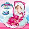Nueva Llegada de Las Muchachas Juguetes de Simulación Tocador Princesa de Las Muchachas de Maquillaje Caja de Almacenamiento Portátil de la muchacha maquillaje regalo juguetes de educación temprana