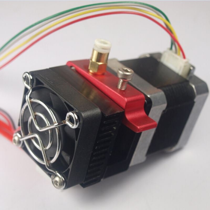 wholesale 3D printer Directly near extruder full kit work compatible with for Reprap Printrbot MK8 extrusion 1.75mm filament autoleveling dual nozzle aluminium extrusion 3d printer kit ei3 3d printer with 2rolls filament 8gb sd card as gift