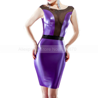 Latex Dresses Female Sexy Rubber Latex Club Wear Dress Custom Made Size Handmade S LD161