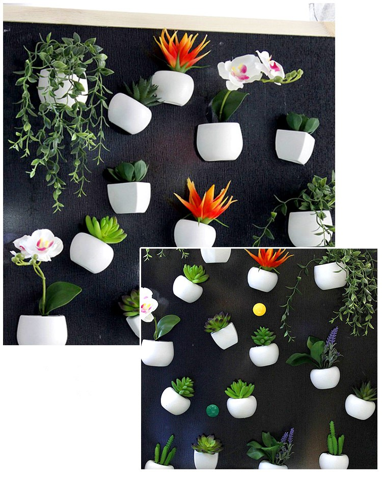 Bonsoplant Fridge Magnets Potted Artificial Green succulent Bonsai plants fridge magnets