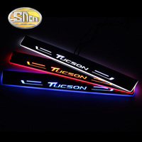 SNCN Car LED Door Sill For Hyundai Tucson 2015 2016 2017 2018 Ultra thin Acrylic Dynamic LED Welcome Light Scuff Plate Pedal