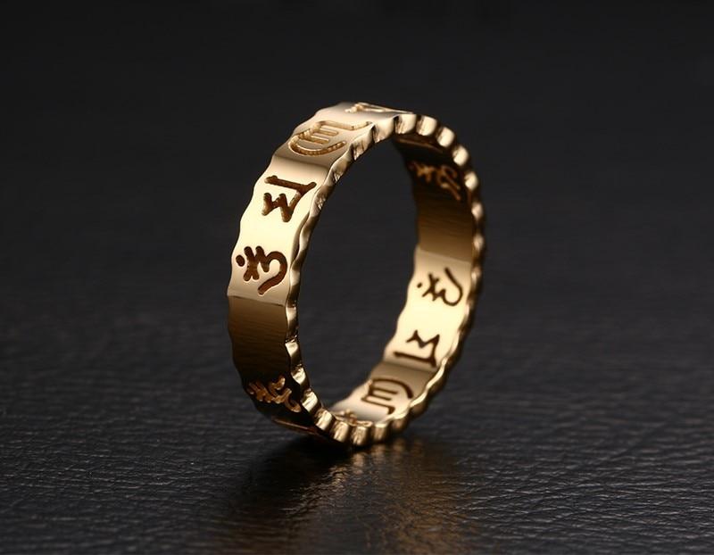 Men's Gold Unusual Buddhist Ring
