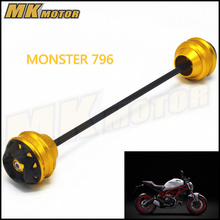 Free shipping For DUCATI MONSTER 796 2012-2016 CNC Modified Motorcycle Front and rear wheels drop ball / shock absorber baja 5b parts cnc 8mm alloy rear shock absorber free shipping 95223
