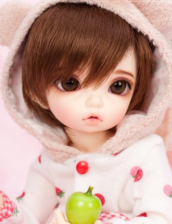 BJD 1//8 Doll Byurl Little Girls free eyes facial makeup hot doll