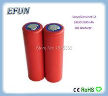 Brand new 2PCS/LOT  100% Genuine Sanyo 18650 3500mAh Li-ion Rechargeable Battery 3.6V NCR18650GA highest capacity
