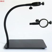 купить AIBOULLY OK-42 Microscope Stand Camera Bracket 50mm Aperture Metal Hose Base Multi-functional Shelf Fixed Lens Lens Clip дешево