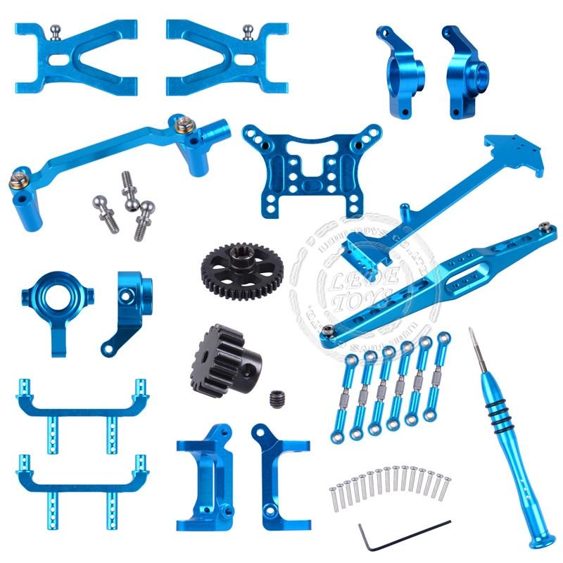WL Toy Parts Upgrade Aluminum Car Parts Metal Accessory Rc Car Parts For Car Rear Seat/Base C/Motor/Pull Rod A959/A959-B/A969