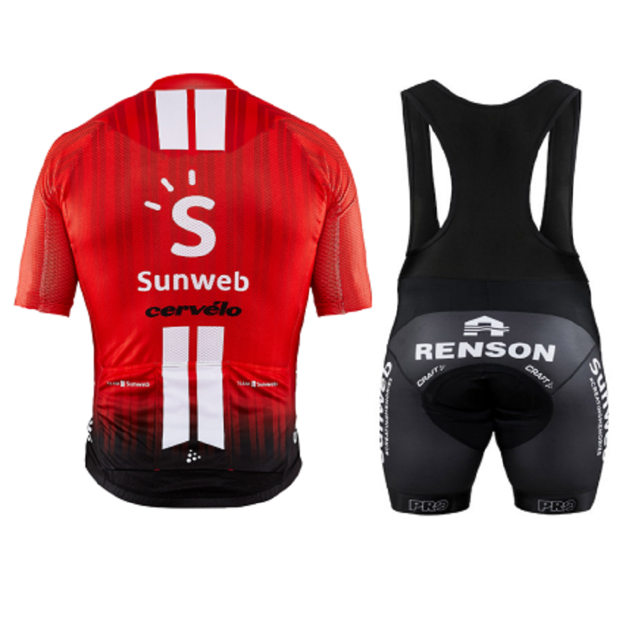 2019 TEAM SUNWEB RED PRO cycling jersey bibs shorts suit Ropa Ciclismo mens
