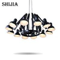 Современный черный подвесной светильник/черный подвесной светильник для столовой, спальни