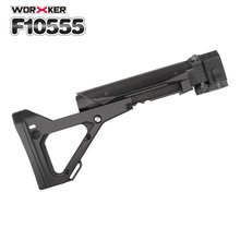 Worker Mod Shoulder Stock 3D Printing Foldable Tail Stock Buttstock Toy Gun Accessories For Nerf N-strike Elite Series worker light weight shoulder tail stock injection mold for nerf