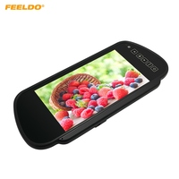 FEELDO 7 16:9 12 24V TFT LCD Car Rear View LCD Monitor With Mirror 2 Video Input For Bus/Truck