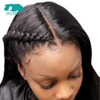 Brazilian Remy Straight Hair Lace Front Human Hair Wigs 360 Lace Frontal Wig Pre Plucked Hairline Bleached Knots With Baby Hair