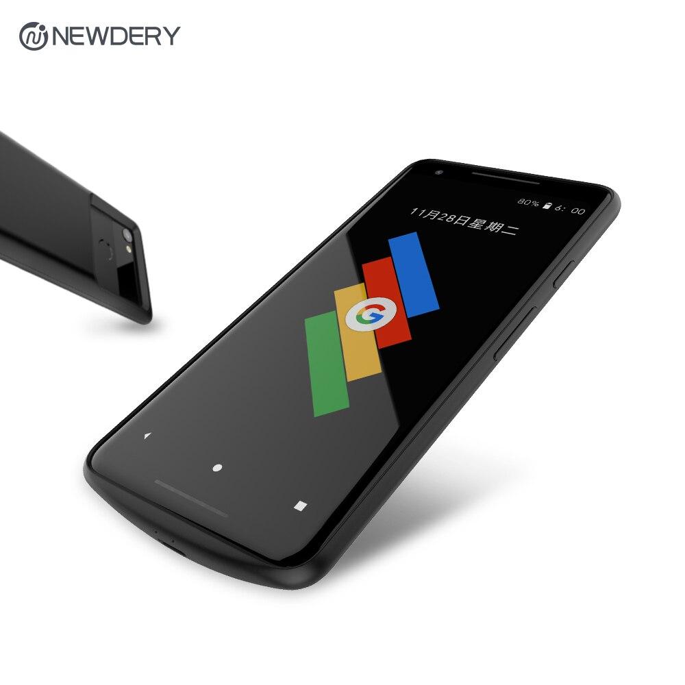 Funda cargadora de batería NEWDERY para Google Pixel 2 2XL 4700mAh estuche de carga portátil Delgado exclusivo para Pixel 2 XL 5200mAh - 2