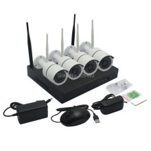Plug and Play HD 4CH NVR 720P Wireless CCTV System  Outdoor Night Vision Security Camera WIFI Surveillance Kit