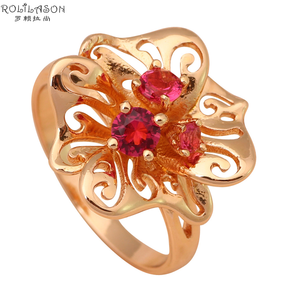 Cute style design good price fashion jewelry crystal gold tone rings healthy jewelry usa size 8 Design and style fashion jewelry