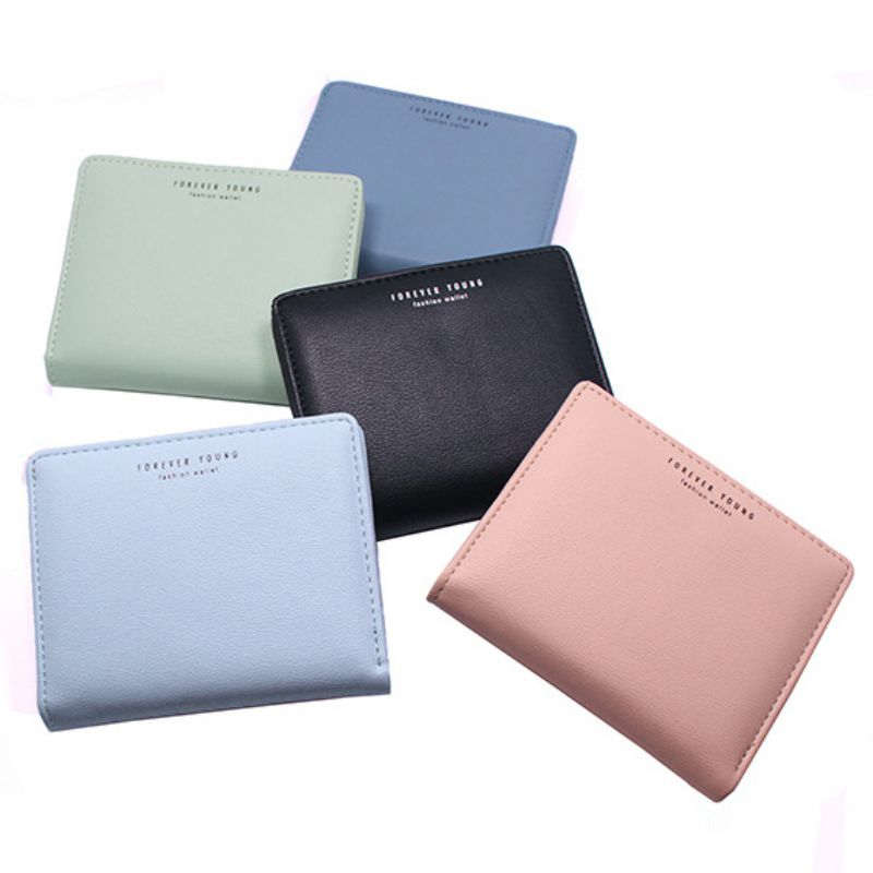 Fashion Women Leather Small Wallet Female Short Zipper Coin Pocket Purse Multi-Function Female Clutch Money Bags Top Quality