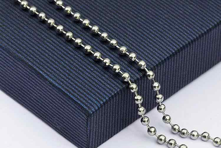 New Fashion Wholesale Jewelry Accessories Lots Ball Titanium Steel Beads Chains Necklaces  Sliver Color For Women Ladies