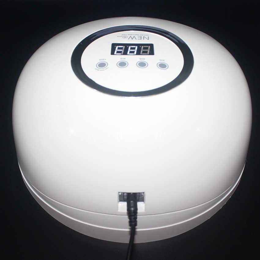 72 W lámpara de uñas de mayor potencia doble fuente LED mayor espacio LED/UV lámpara LED Gel pulido de curado herramienta con Sensor de movimiento