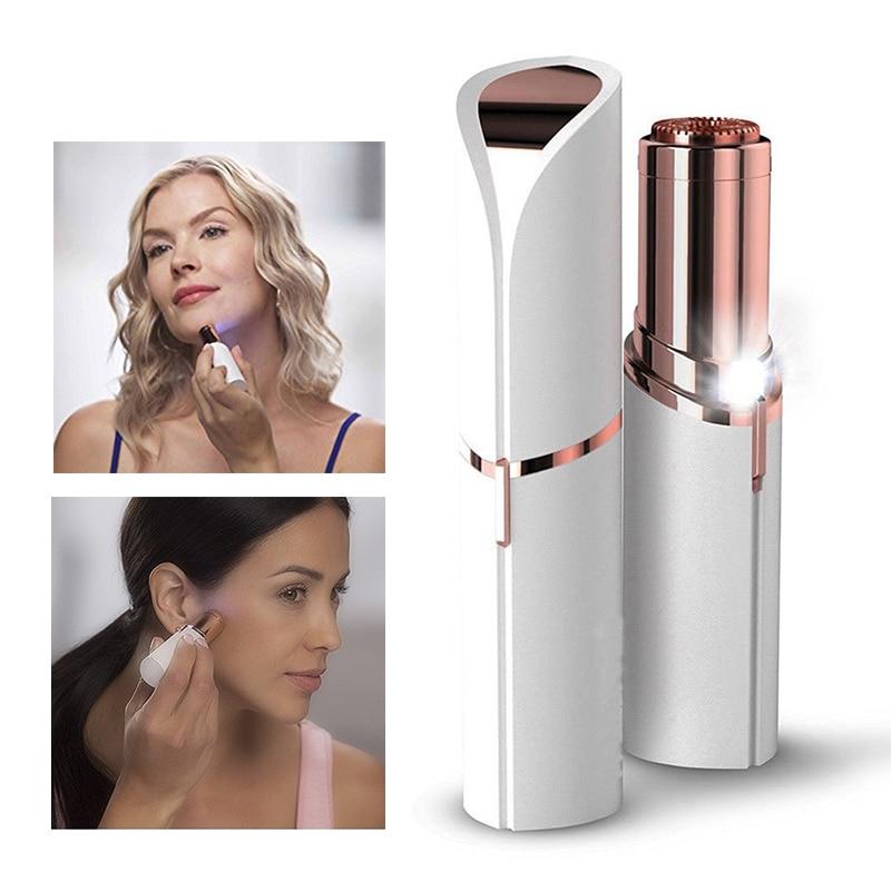 Electric Women Lipstick Shaver Razor Wax Finishing Touch Flawless Hair Remover Trimmer Shaving Machine Lipstick Shaving Tool
