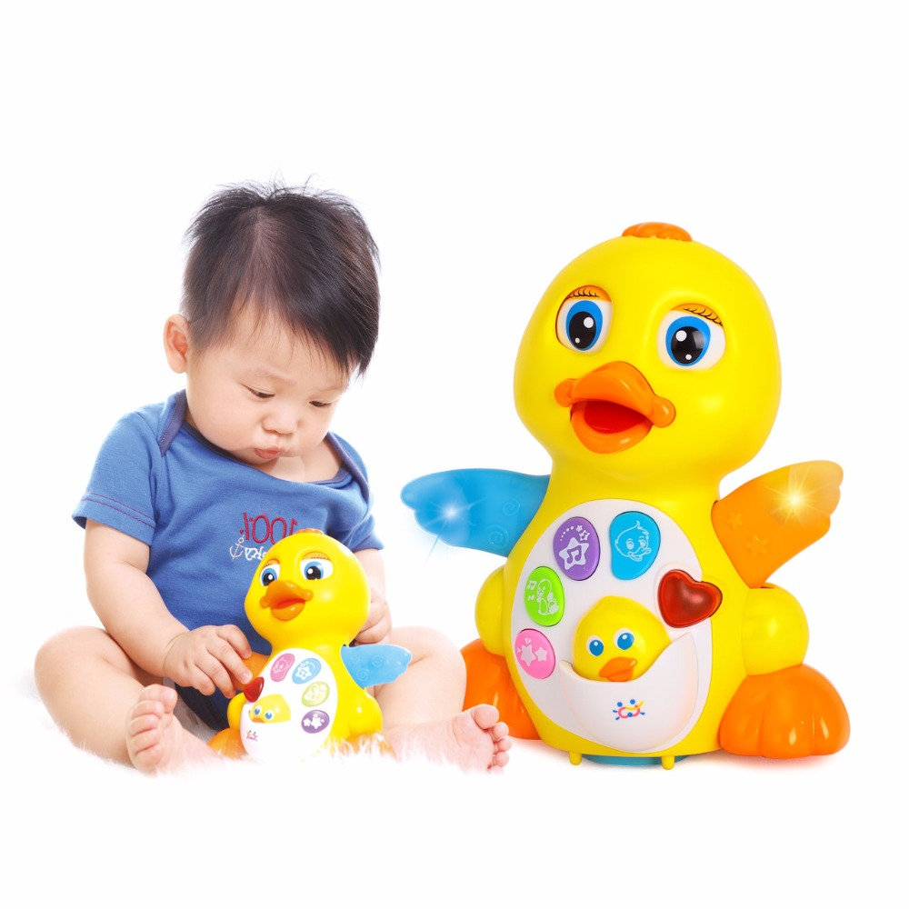 Baby Toys EQ Flapping Yellow Duck Infant Brinquedos Bebe Electrical Universal Toy for Children Kids
