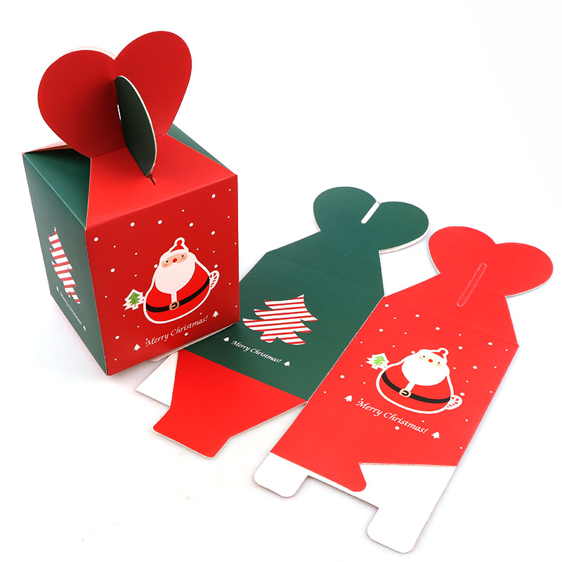 4pcs Santa Claus And Tree Box Chrismas Kids Birthday Party Decoration Wedding Favors Paper Gift Boxes Baby Shower Supplies