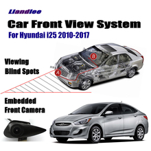 Liandlee Car Front View Logo Embedded Camera / Cigarette Lighter / For Hyundai i25 2010-2017 2015 2016 / 4.3 LCD Monitor Screen