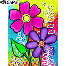 DIAPAI 100% Full Square/Round Drill 5D DIY Diamond Painting Flower painting Embroidery Cross Stitch 3D Decor A19063