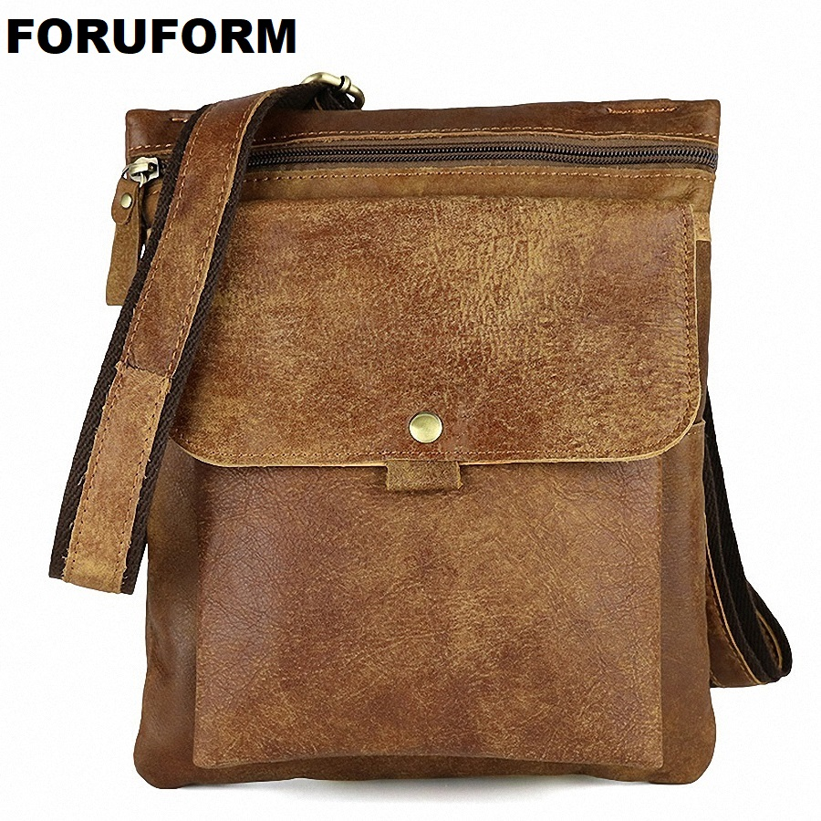 Genuine Leather Men Bag Fashion Messenger Bags Shoulder Business Men's Briefcase Casual Crossbody Handbags Man Waist Bag LI-1423 2016 new leather men bag classical messenger bag men fashion casual business shoulder handbags for men bag hot free shipping