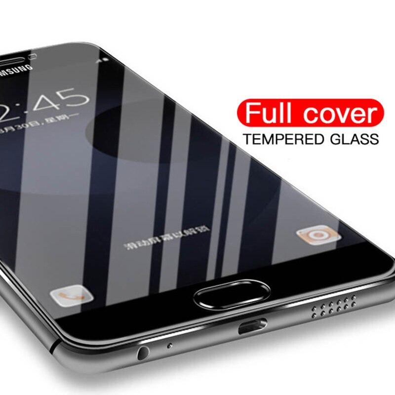 Vidro Temperado Para Samsung Galaxy A3 9D A5 A7 2017 J3 Pro J5 J7 Completo Protetor de Tela de Cobertura 2.5 de Segurança vidro em UM 3 5 J 7