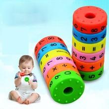 К AUTOPS 6 шт./компл. умножения Магнитная Колонка рисунок арифметики строительные блоки, Детские Обучающие Развивающие игрушки для детей