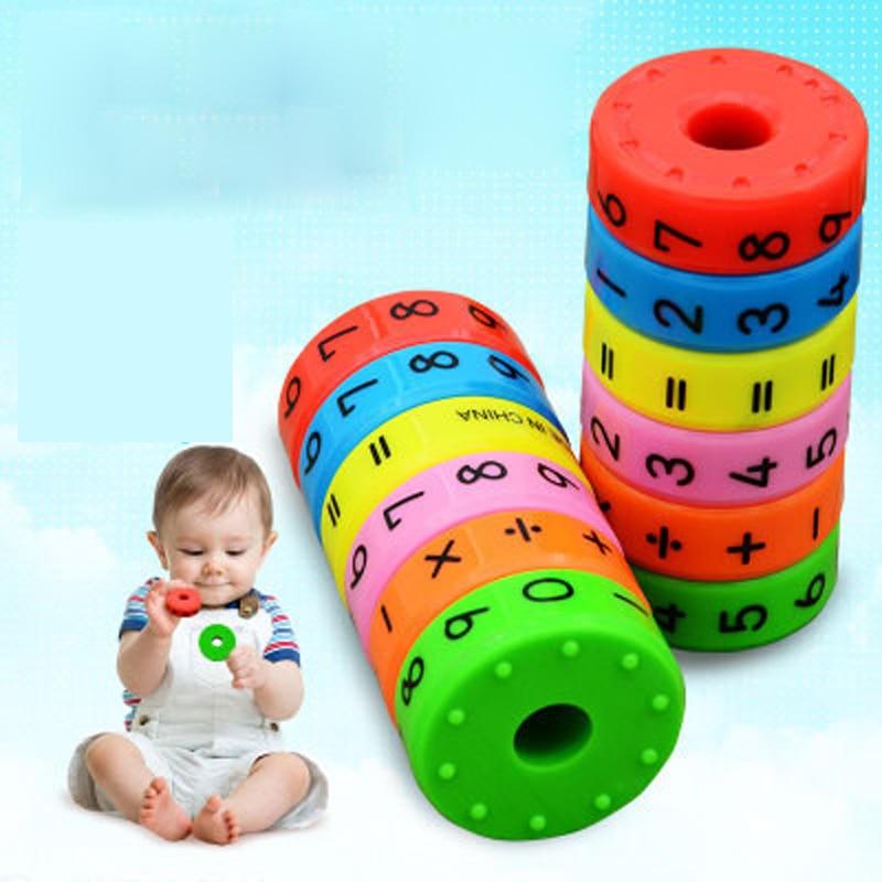6pcs/set Digital Multiplication Magnetic Column Figure Arithmetic Puzzle Building Blocks Kids Learning Educational Toy for Child