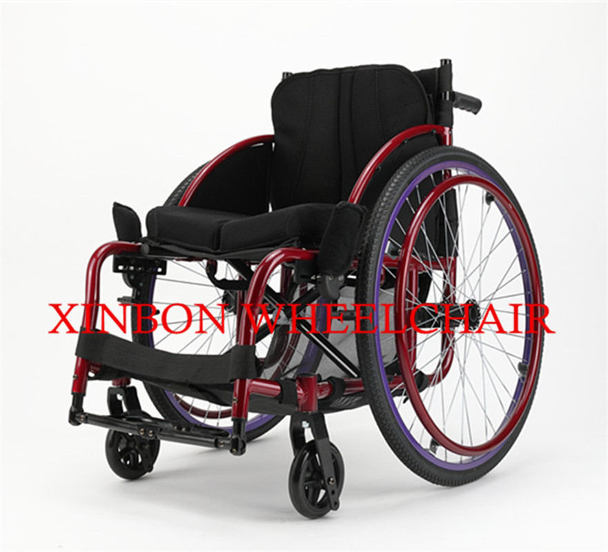 Fashion lightweight manual sport wheelchair for outdoor activities