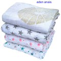 Aden Anais Muslin Swaddle Blanket Infant Newborn Baby Cotton Muslin Blanket 120x120cm Gauze Bath Towel Muslin Swaddle