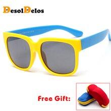 Square Kids Polarized Sunglasses Child Sun Glasses Baby Vintage Eyeglasses Outdoor Goggles infantil oculos de sol with case