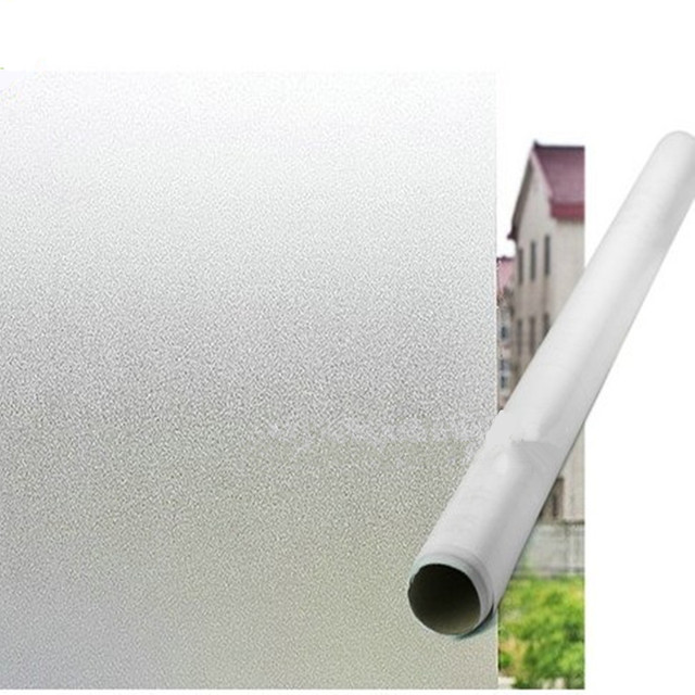 1 roll 1m/3m Frosted Privacy Window Film Home Office Sticker Glass Vinyl Sticky Paper Decorative Films