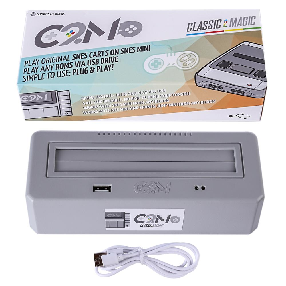 Classic 2 Magic Plays Original SNES Game Carts Adapter Compatible for Family Computer for Nintendo Entertainment