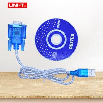цена на UNI-T UT61E Digital Multimeter RS232 to USB cable with Software CD PC transfer cable for UT61A UT61B UT61C UT61D UT61E