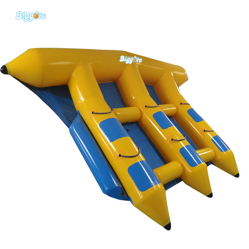 Inflatable Biggors MultiPerson Inflatable Flyfish Boat For Amusement Park inflatable banana boat towable water sports inflatable flyingfish gonflable flyfish trilling banana boat on hot sale