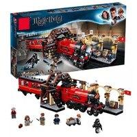 Новый fit Гарри Поттер Legoinglys Хогвартс Экспресс набор поезд строительные блоки кирпичи дети мальчики игрушки для Рождественский подарок с фи...