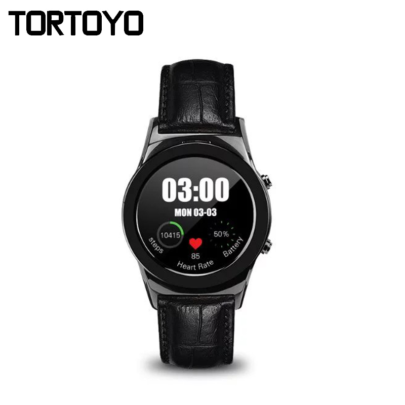 LW01 Leather Smart Watch Push Message Heart Rate Monitor Sim Card Smartwach Wristwatch Sports Clock For