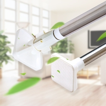 Cheapest prices Bathroom Shower Curtains Poles Telescopic Simple Curtain Rod Balcony Air Cloak no Perforation and no Installation 0.5-2.4 meters