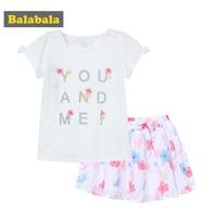 Balabala 2018 Summer Children Clothing Set Toddler Girl Fashion Sleeveless Tracksuit Girl Clothing Children Dress Enfant