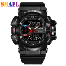 2016 Fashion Sport Super Cool Men's Quartz Digital Watch Men Sports Watches Luxury Brand LED Military Waterproof Wristwatches