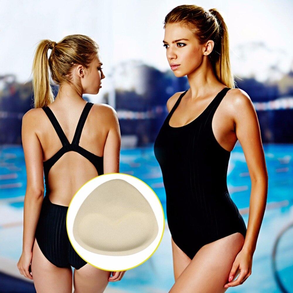 1pair Woman Soft Sponge Nude Bikinis Swimsuit Bra Push Up Removeable Bra Pads Push Up Breast Bikini Padding Set Swim Equipments