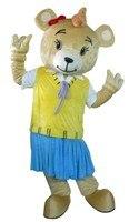 Niñas oso Traje de La Mascota Del tamaño del Carácter adulto del partido de Halloween vestido de lujo para la venta 0112
